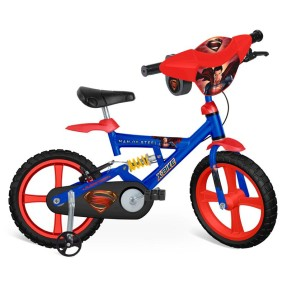 Foto Bicicleta Bandeirante Superman Aro 14 Suspensão no quadro Superman X-Bike