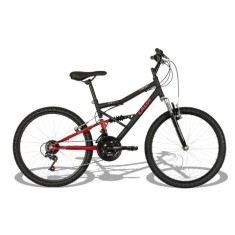 Foto Bicicleta Mountain Bike Caloi 21 Marchas Aro 24 Suspensão Full Suspension Freio V-Brake Shok