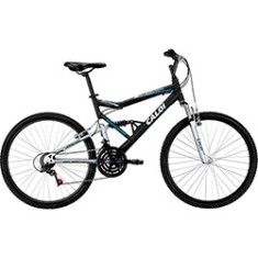 Foto Bicicleta Mountain Bike Caloi 21 Marchas Aro 26 Suspensão Full Suspension Freio V-Brake KS