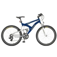 Foto Bicicleta Mountain Bike Fischer 21 Marchas Aro 26 Suspensão Full Suspension Freio V-Brake Vector