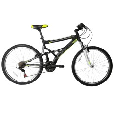 Foto Bicicleta Mountain Bike Gonew 21 Marchas Aro 26 Suspensão Full Suspension Freio V-Brake Endorphine 5.7