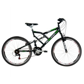 Foto Bicicleta Mountain Bike Mormaii 21 Marchas Aro 26 Suspensão Full Suspension Freio V-Brake Big Rider