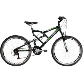 Foto Bicicleta Mountain Bike Mormaii 24 Marchas Aro 26 Suspensão Full Suspension Freio V-Brake Big Rider