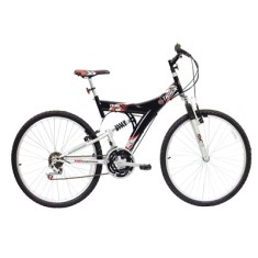 Foto Bicicleta Mountain Bike Track & Bikes 18 Marchas Aro 26 Suspensão Full Suspension Freio V-Brake TB100XS