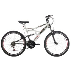 Foto Bicicleta Mountain Bike Track & Bikes 21 Marchas Aro 26 Suspensão Full Suspension Freio V-Brake Boxxer New
