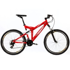 Foto Bicicleta Mountain Bike Track & Bikes 21 Marchas Aro 26 Suspensão Full Suspension Freio V-Brake TK Full 5.0