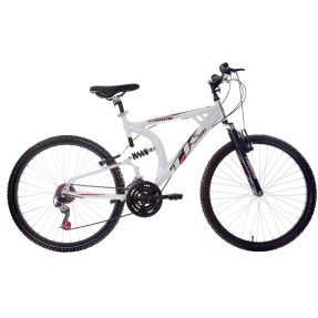 Foto Bicicleta Mountain Bike Track & Bikes 21 Marchas Aro 26 Suspensão Full Suspension Freio V-Brake XK 400