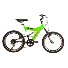 Foto Bicicleta Mountain Bike Track & Bikes 6 Marchas Aro 20 Suspensão Full Suspension Freio V-Brake XR 20 Full