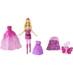 Foto Boneca Barbie Bolsa com Mini Super Princesa Mattel