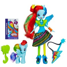 Foto Boneca My Little Pony Equestria Girl Hasbro Rainbow Rocks Rainbow Dash A6871 Hasbro