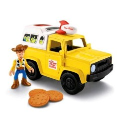 Foto Boneco Woody Imaginext Carro do Pizza Planet X4086 - Mattel