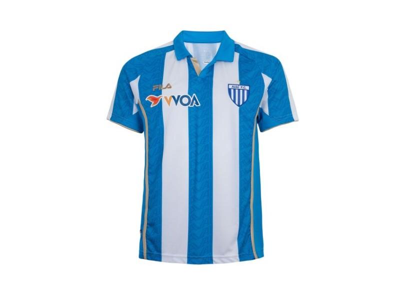 Camisa Avaí I 2015 sem Número Torcedor Masculino Fila  baaa41f107620