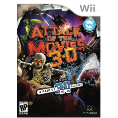 Foto Jogo Attack of the Movies 3D Wii Majesco Entertainment