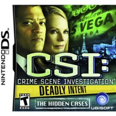 Foto Jogo CSI Deadly Intent The Hidden Cases Ubisoft Nintendo DS