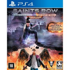 Foto Jogo Saints Row IV Re-elected + Gat Out of Hell PS4 Deep Silver
