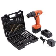 Foto Kit Furadeira / Parafusadeira 3/8 Black & Decker - CD121K50