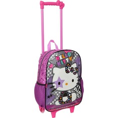 Foto Mochila com Rodinhas Escolar Pacific Hello Kitty Star 924P01
