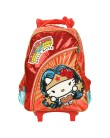 Mochila com Rodinhas Escolar PCF Global Hello Kitty Comics Wonder Woman