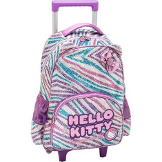 Foto Mochila com Rodinhas Escolar PCF Global Hello Kitty Fashion 924T01