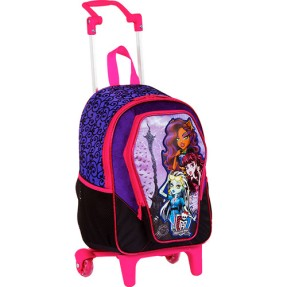 Foto Mochila com Rodinhas Escolar Sestini Monster High 13 Litros Monster High 62982