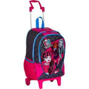 Foto Mochila com Rodinhas Escolar Sestini Monster High 16 Litros Monster High 62820