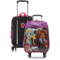 Foto Mochila com Rodinhas Escolar Sestini Monster High 16M Plus G 63910