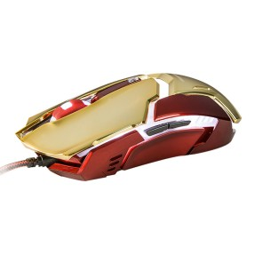 Foto Mouse Óptico Gamer USB Iron Man 3 - E-BLUE