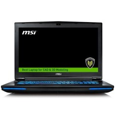 "Foto Notebook MSI WT72 6QK Intel Core i7 6700HQ 17,3"" 16GB HD 1 TB NVIDIA Quadro M3000M SSD 128 GB"