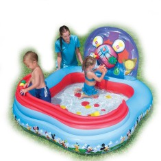 Foto Piscina Inflável 151 l Quadrada Bestway Play Center Mickey Mouse 91015