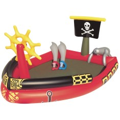 Foto Piscina Inflável 212 l Oval Bestway Play Center Piratas 53041