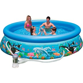 Foto Piscina Inflável 5.600 l Redonda Intex Easy Set Oceano