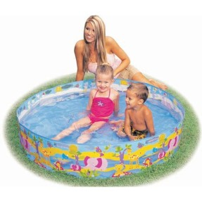 Foto Piscina Snapset 288 l Redonda Intex Animais Divertidos