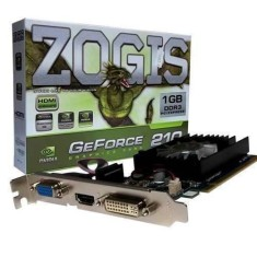 Foto Placa de Video NVIDIA GeForce 210 1 GB DDR3 64 Bits Zogis ZO210-1GD3HP