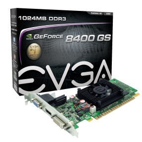 Foto Placa de Video NVIDIA GeForce 8400 1 GB DDR3 64 Bits EVGA 01G-P3-1302-LR