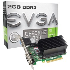 Foto Placa de Video NVIDIA GeForce GT 730 2 GB DDR3 64 Bits EVGA 02G-P3-1733-KR