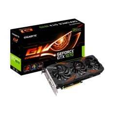 Foto Placa de Video NVIDIA GeForce GTX 1070 8 GB GDDR5 256 Bits Gigabyte GV-N1070G1 GAMING-8GD