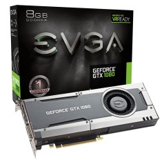 Foto Placa de Video NVIDIA GeForce GTX 1080 8 GB GDDR5X 256 Bits EVGA 08G-P4-5180-KR