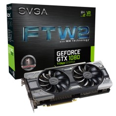 Foto Placa de Video NVIDIA GeForce GTX 1080 8 GB GDDR5X 256 Bits EVGA 08G-P4-6686-KR