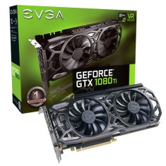 Foto Placa de Video NVIDIA GeForce GTX 1080 Ti 11 GB GDDR5X 352 Bits EVGA 11G-P4-6393-KR