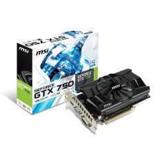 Foto Placa de Video NVIDIA GeForce GTX 750 1 GB GDDR5 128 Bits MSI N750-1GD5/OC