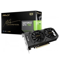 Foto Placa de Video NVIDIA GeForce GTX 750 1 GB GDDR5 128 Bits PNY VCGGTX7501XPB-BB/RTLBX