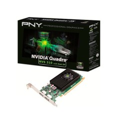 Foto Placa de Video NVIDIA Quadro 310 512 MB DDR3 64 Bits PNY VCNVS310DP-PB