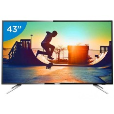 "Foto Smart TV LED 43"" Philips Série 6000 4K 43PUG6102 4 HDMI"