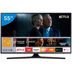 "Foto Smart TV LED 55"" Samsung Série 6 4K HDR 55MU6100"