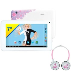 "Foto Tablet Candide Xuxa 3277 8GB 7"" Android 2 MP 4.2 (Jelly Bean Plus)"