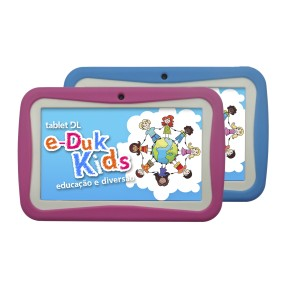 "Foto Tablet DL Eletrônicos e-Duk Kids 4GB 7"" Android 2 MP 4.1 (Jelly Bean)"