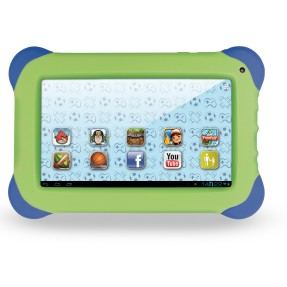"Foto Tablet Multilaser Kid Pad 4GB TFT 7"" Android 4.1 (Jelly Bean) 1,3 MP NB047"