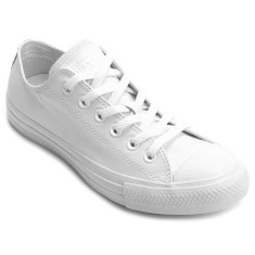 Foto Tênis Converse Unissex CT AS Monochrome Leather OX Casual