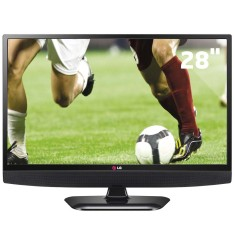 "Foto TV LED 28"" LG 28LB600B 1 HDMI USB Frequência 60 Hz"