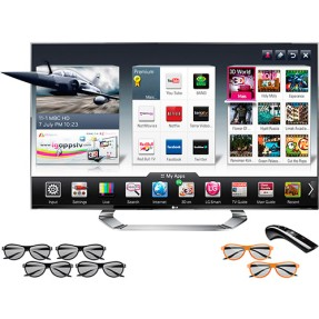 "Foto Smart TV LED 3D 55"" LG Cinema Full HD 55LM9600"